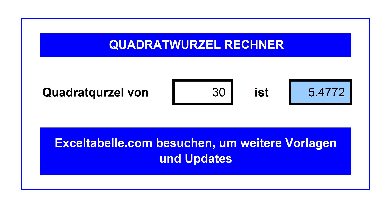 Quadratwurzel-Rechner