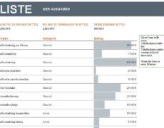 Hausbau Budget Excel Vorlage
