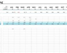 Cashflow-Aufstellung Excel Vorlage