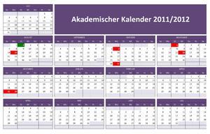 Akademischer Kalender 2011-2012