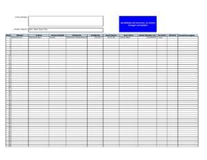 Hausinventar | Excel-Tabelle