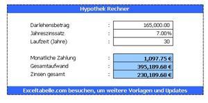 Hypothek Rechner