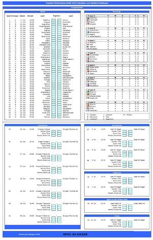 FIFA Fussball-Weltmeisterschaft 2010 Spielplan