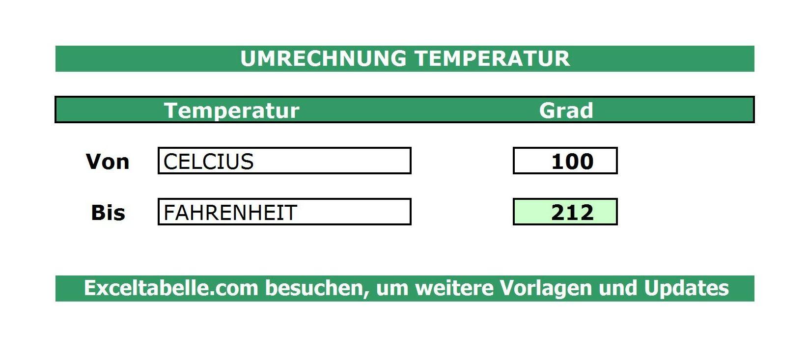 Temperatur Umrechnung