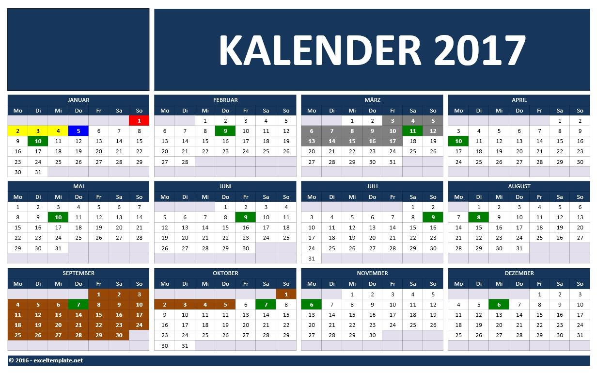 Kalender 2017 | Excel-Tabelle